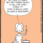 Loving For Keeps marriage cartoon – how to save your relationship: food is love!