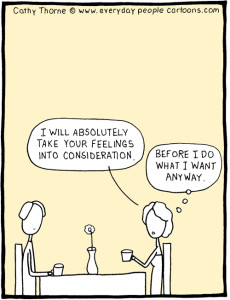 Loving For Keeps marriage cartoon – how to save a relationship: take me into consideration!