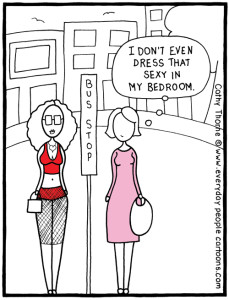 Loving For Keeps marriage cartoon – how to save a relationship: dress sexy!